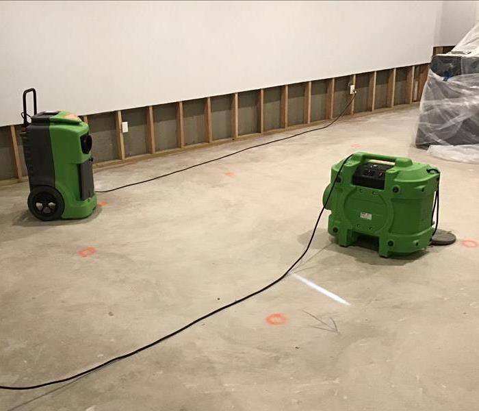 SERVPRO equipment at work.