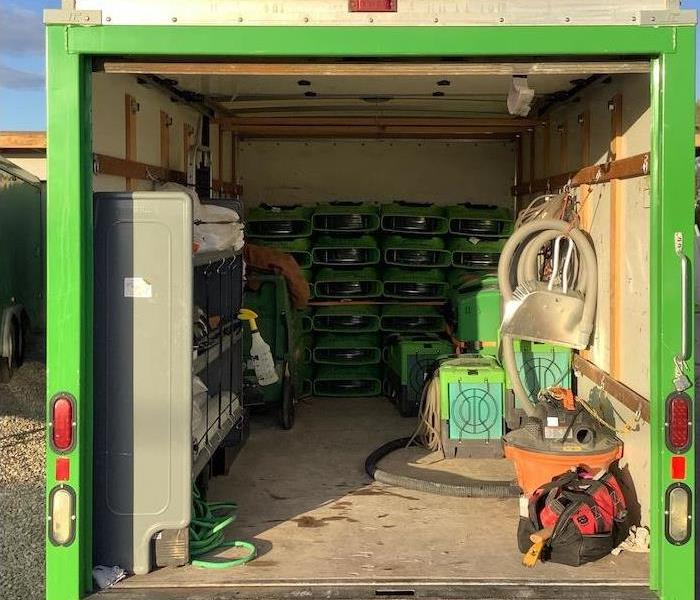 SERVPRO Equipment inside vehicle